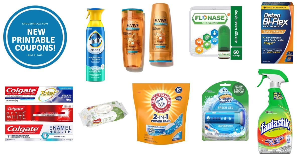 image regarding Printable Huggies Coupons titled Fresh Printable Discount codes!! LOreal, Pledge, Scrubbing Bubbles