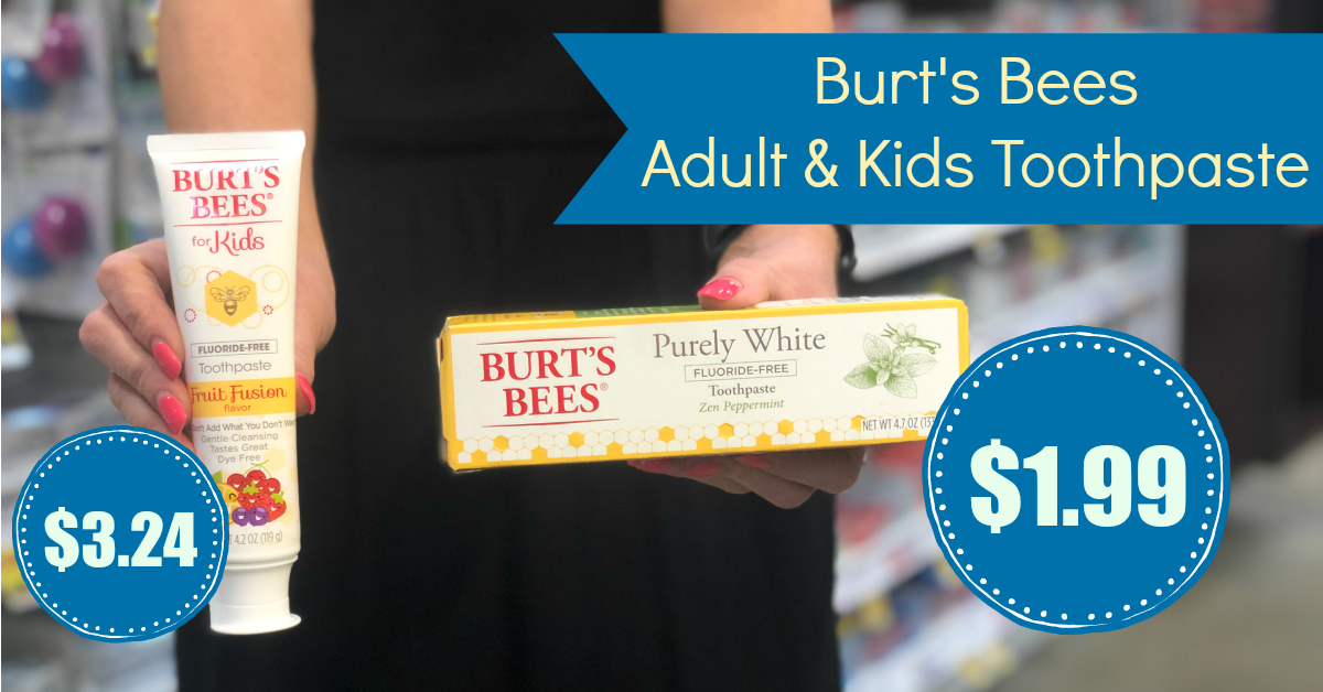 photo relating to Burt's Bees Coupons Printable identified as Sizzling Offer! Burts Bees Toothpaste as small as $1.99 with Kroger