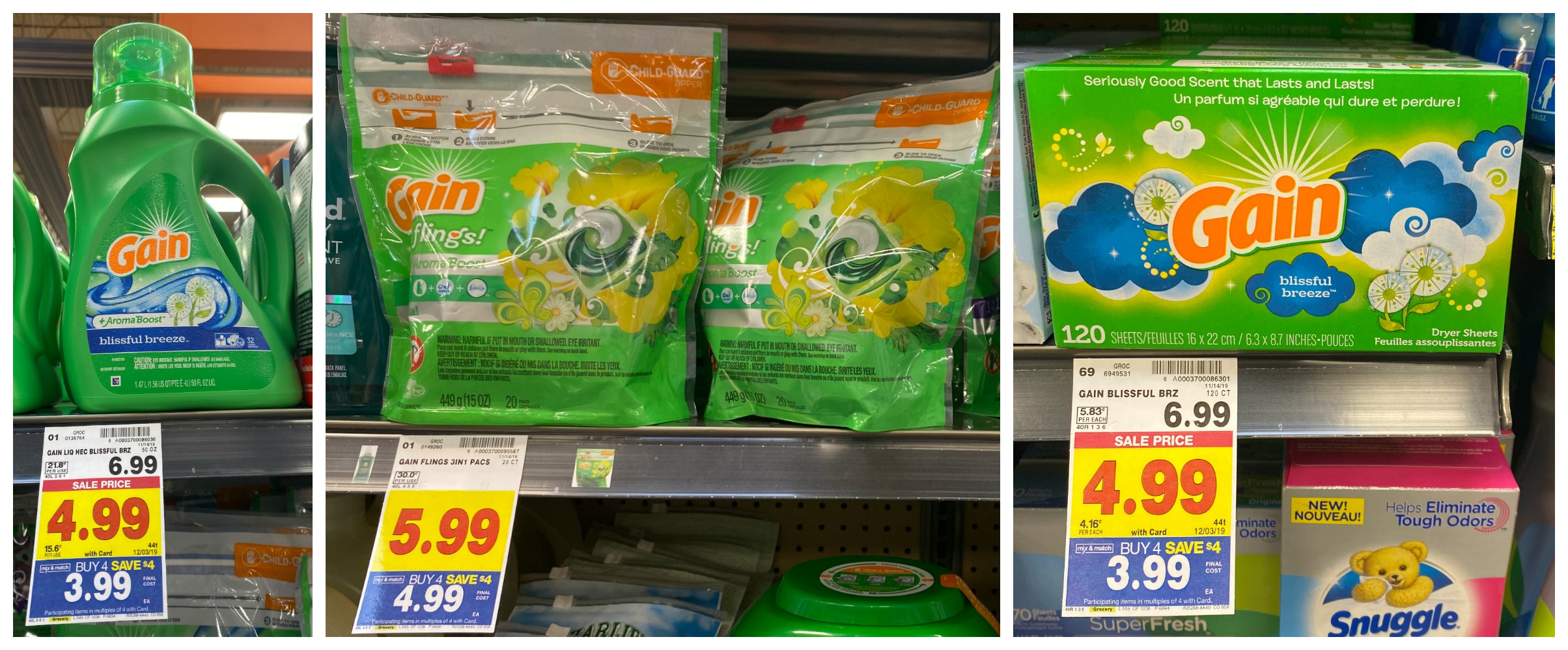 Gain Laundry Products Only 2 99 With Kroger Mega Event Kroger Krazy
