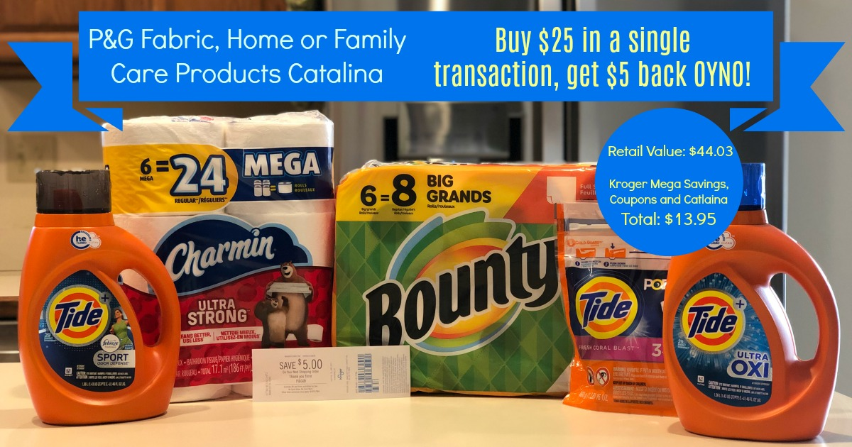 New P G Catalina Stock Up On Laundry And Home Items With Kroger Mega Event Kroger Krazy