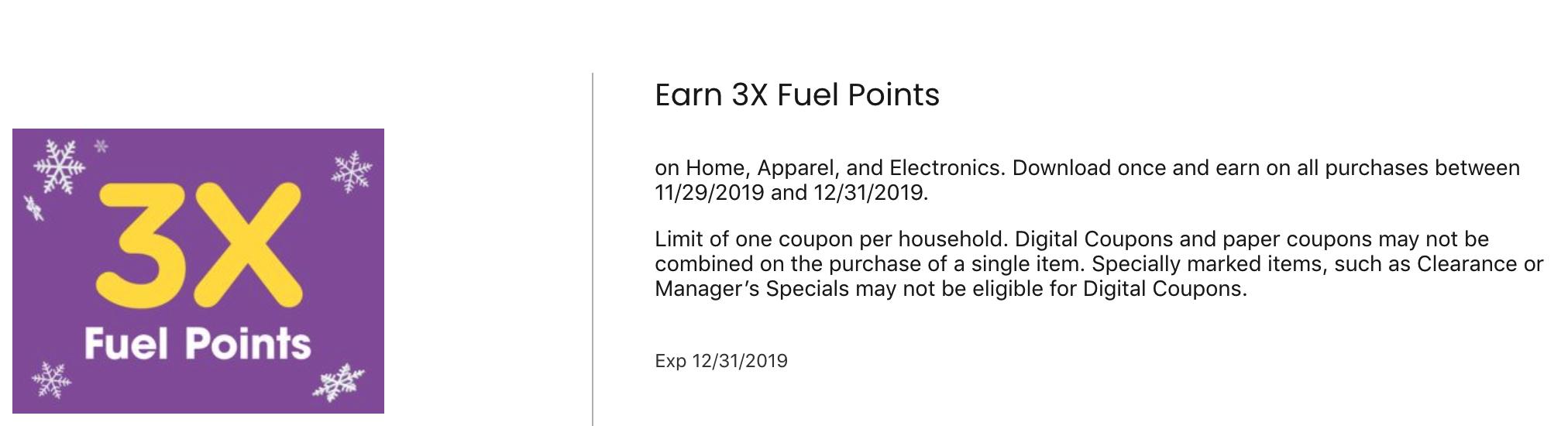 Kroger Fuel Points Home Apparel