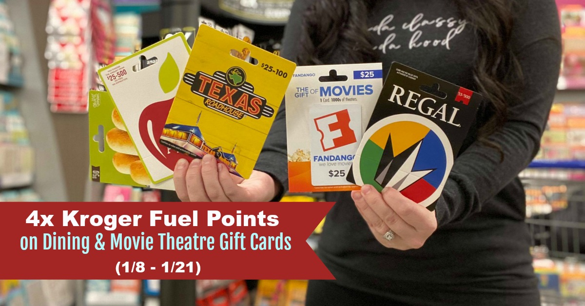 4x Kroger Fuel Gift Cards Dining