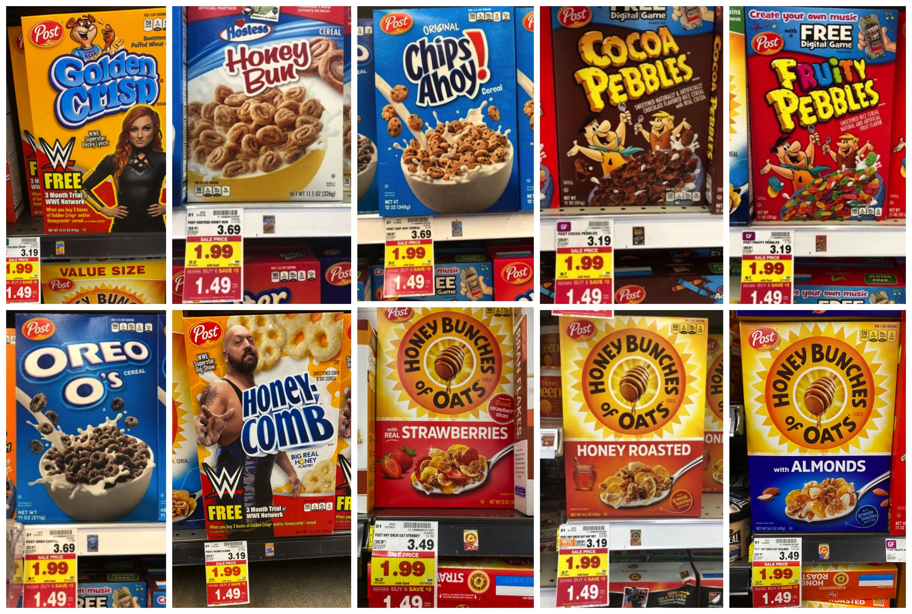 Post Cereal Kroger