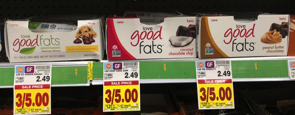Love Good Fats Bar Kroger Krazy