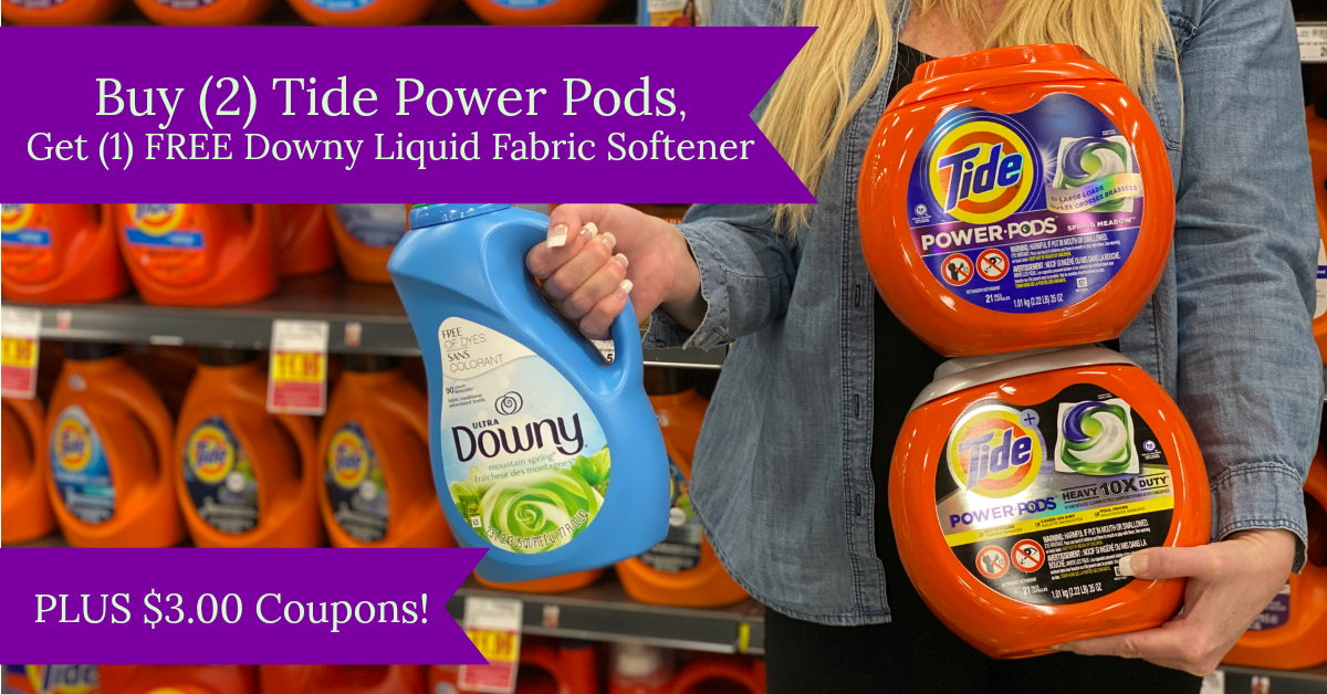 New Tide Power Pods Laundry Detergent Only 8 99 Each Wyb 2 Free Downy Liquid Fabric Softener At Kroger Kroger Krazy