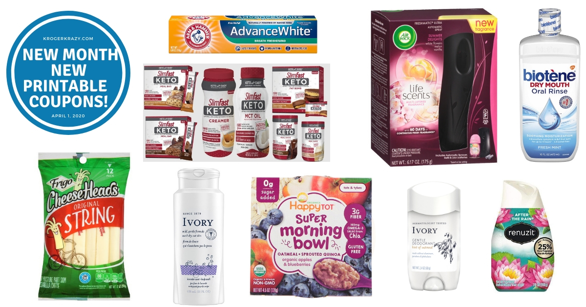 New Month New Printable Coupons Air Wick Frigo Ivory Yoplait And More Kroger Krazy