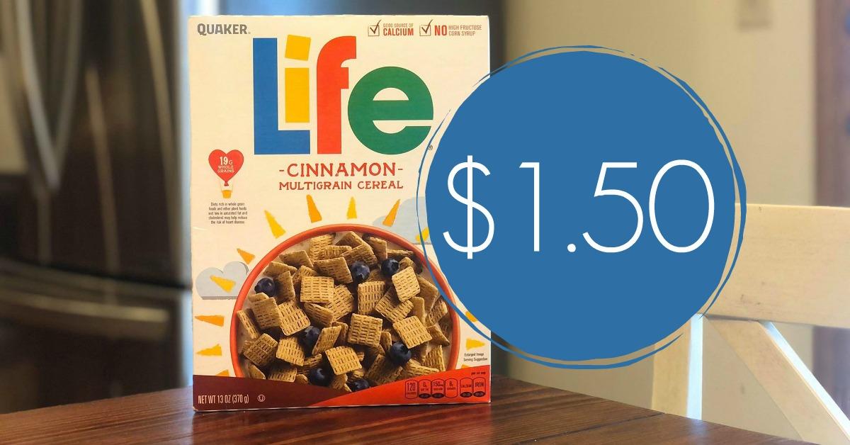 quaker life cereal kroger krazy