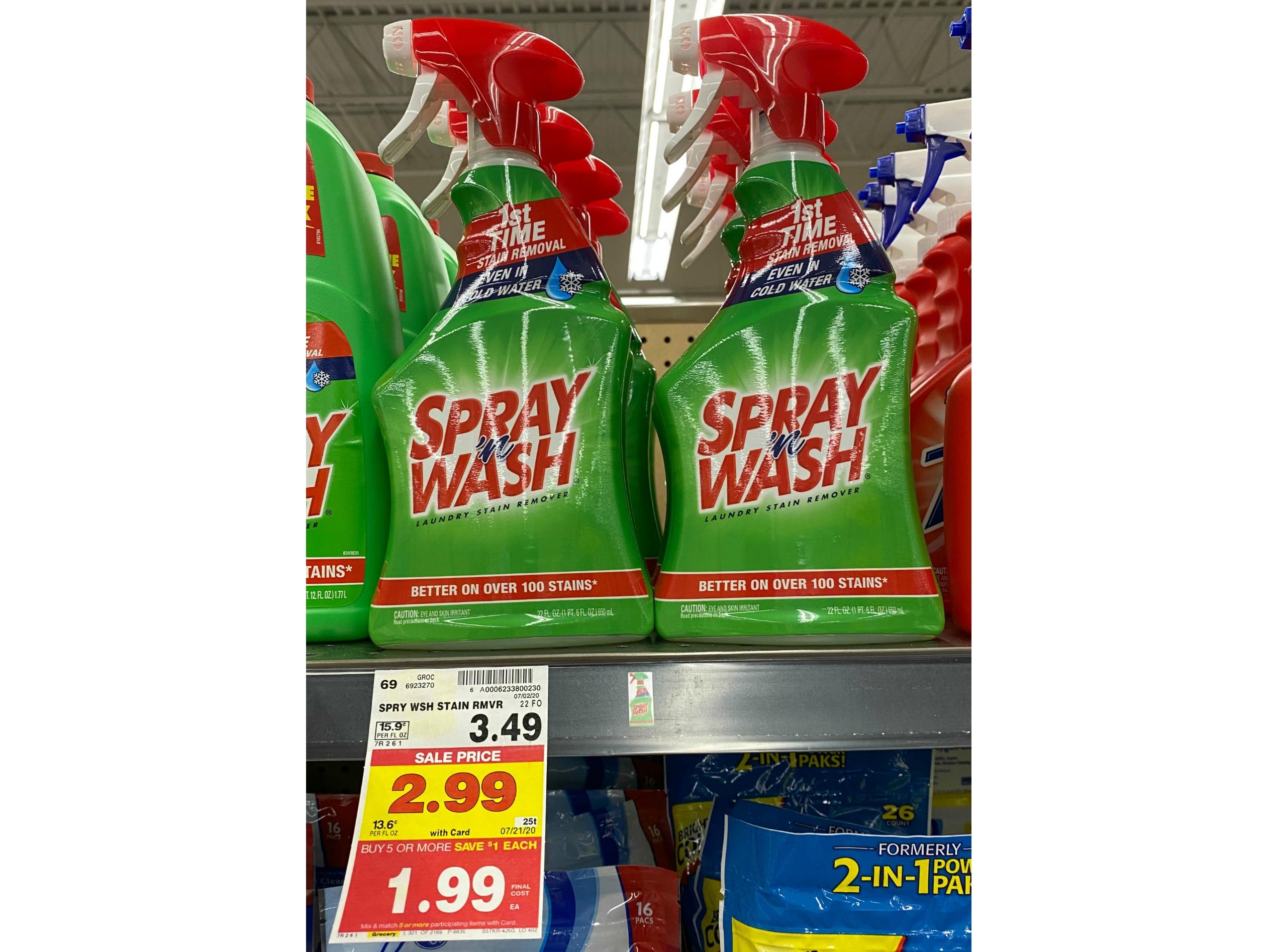 New Spray N Wash Coupon Pay Only 0 99 With Kroger Mega Event Kroger Krazy