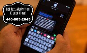 Kroger Krazy text alerts