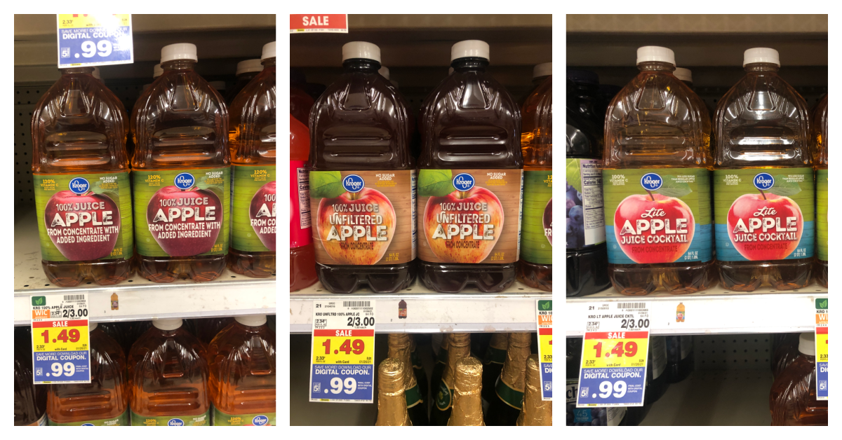 kroger apple juice