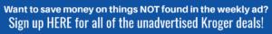 Kroger Weekly Ad Email Optin