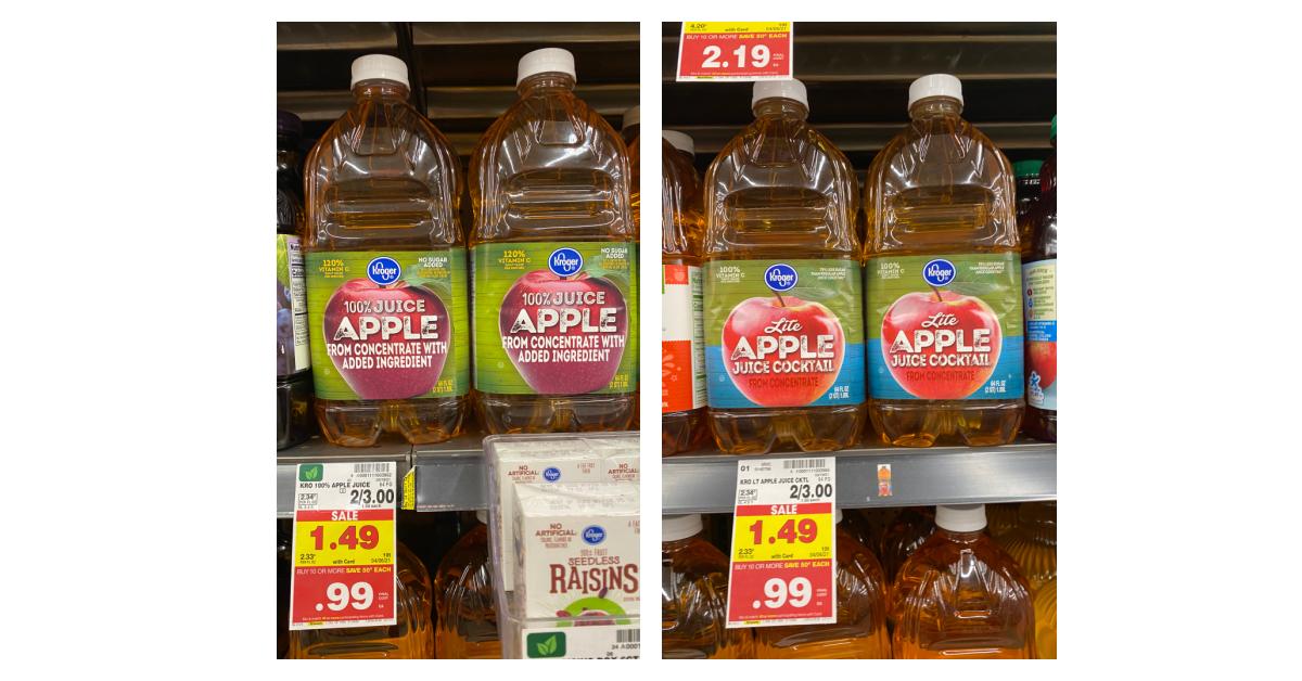 Kroger brand Apple Juice