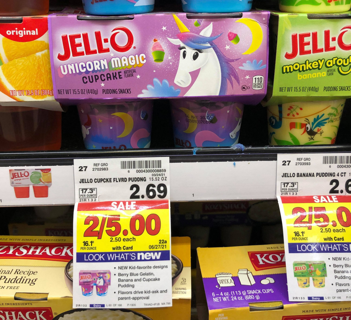 Jell-O Unicorn Magic Cupcake Pudding Kroger