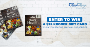 Kroger Gift Card Giveaway Email Subscribers