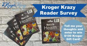 Kroger Krazy Reader Survey Giveaway