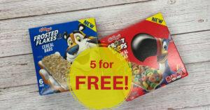 Kellogg's Cereal Bars Kroger Krazy