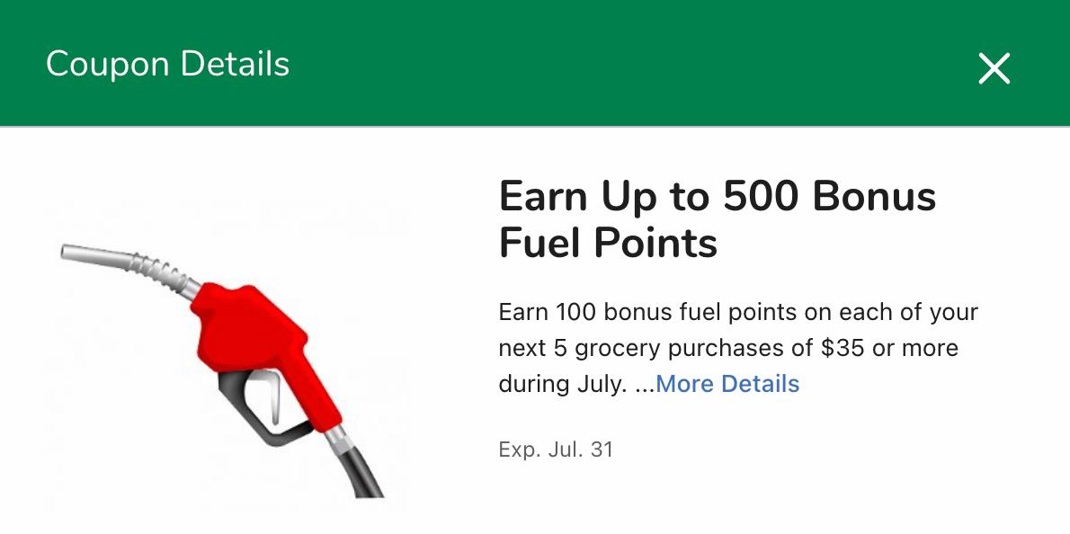 Bonus Kroger Fuel Points