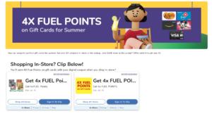kroger fuel points gift cards