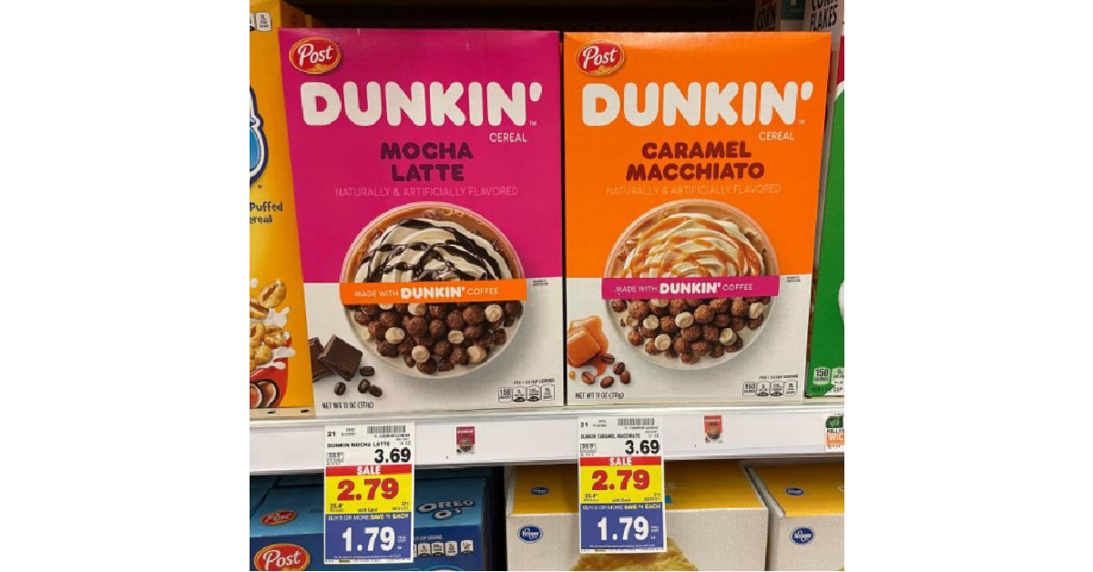 Dunkin Cereal Kroger