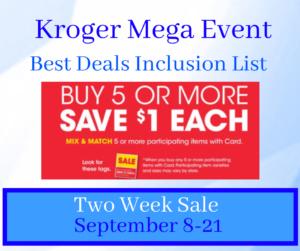 Kroger Buy 5 Save 5 Mega Event Kroger Krazy