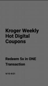 Kroger Weekly 5X Digital Coupons