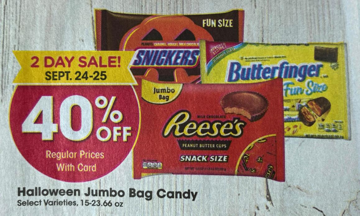 Kroger Halloween Candy Sale